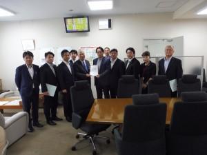 〈1班〉 農林水産省の菱沼技術総括審議官に、スマート農業の普及実装の加速化に関する要望書を提出